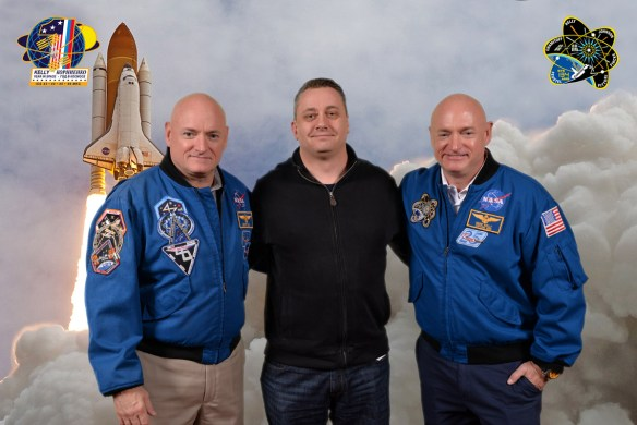 With Scott Kelly and Mark Kelly