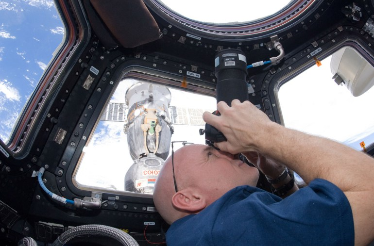 Astronaut Scott Kelly on the International Space Station