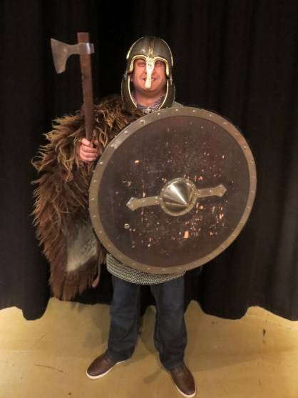 Dressing up as a Viking warrior is almost compulsory at the Saga Museum. I many have enjoyed it a little too much.