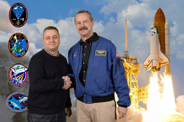 Nick Cook with Scott Altman at Space Lectures. Photo courtesy of ProffotoEvents