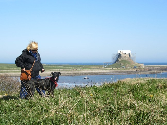 Sam and Nelson on Lindisfarne