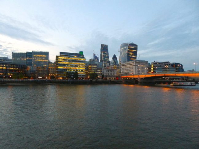 The city from Southwark