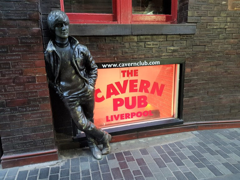 John Lennon Statue at the Cavern Club