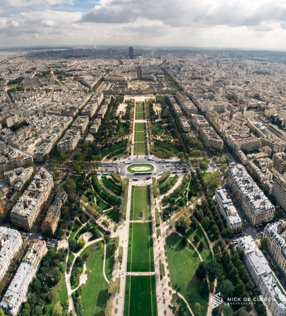 View from the Eiffel tower - Paris, France