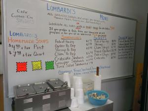 Lombardi's Menu