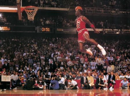 Jordan Free Throw Line Dunk 1988