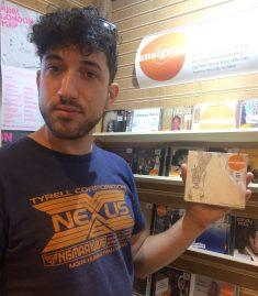 Nick Stephenson with a copy of Dream Logic