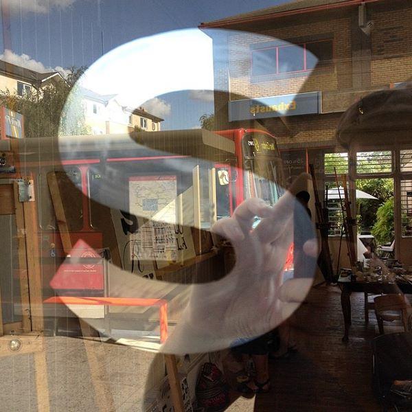 Mirrored lettering Nick Garrett Signs