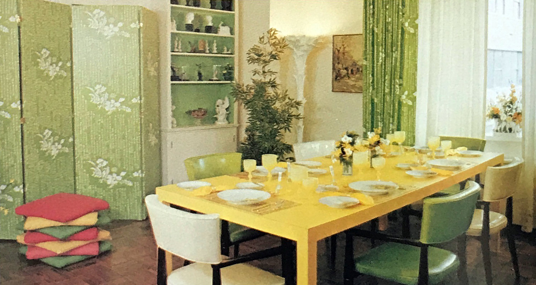 James Wheeler Design - Green Dining Room