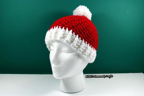 Santa Hat with Pom-pom - free crochet pattern