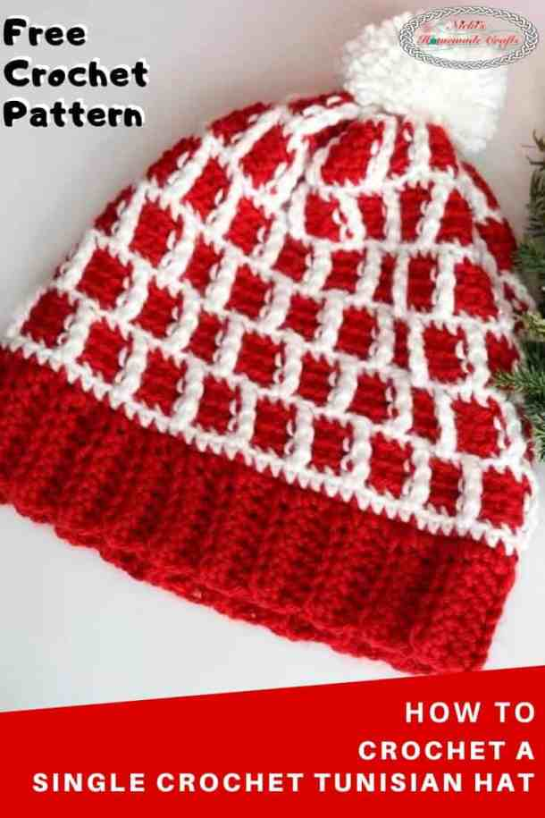 Single Crochet Tunisian Hat Pattern