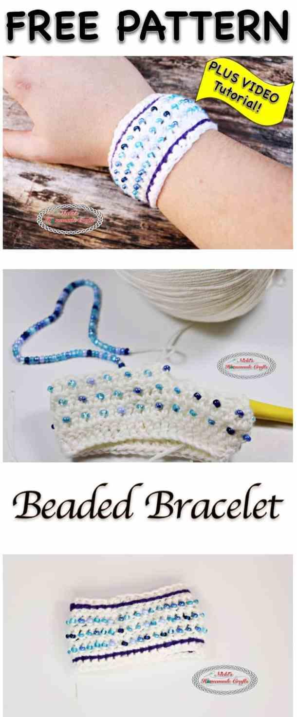 Beaded Bracelet - Free Crochet Pattern