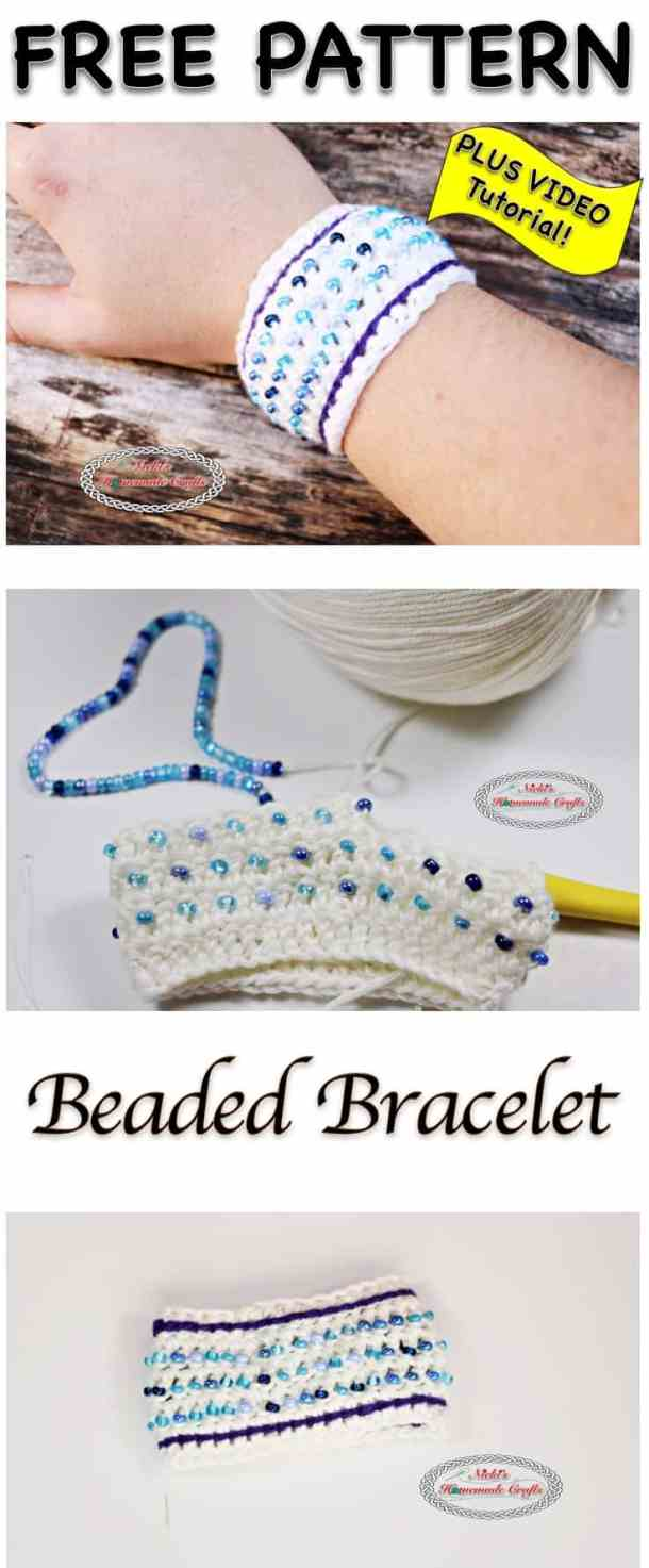 Beaded Bracelet Free Crochet Pattern Nickis Homemade Crafts