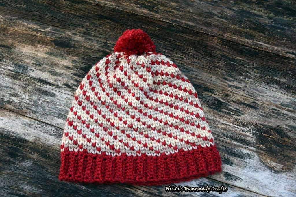 Swirly Heart Hat Free Crochet Pattern  Nickis Homemade