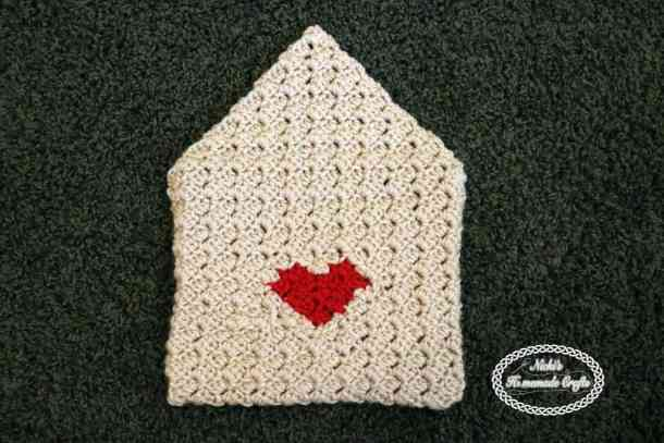 Heart Envelop of Valentine's CAL 2017 Free Crochet Pattern by Nicki's Homemade Crafts