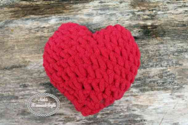 Stuffed Heart Free Crochet Pattern Nickis Homemade Crafts