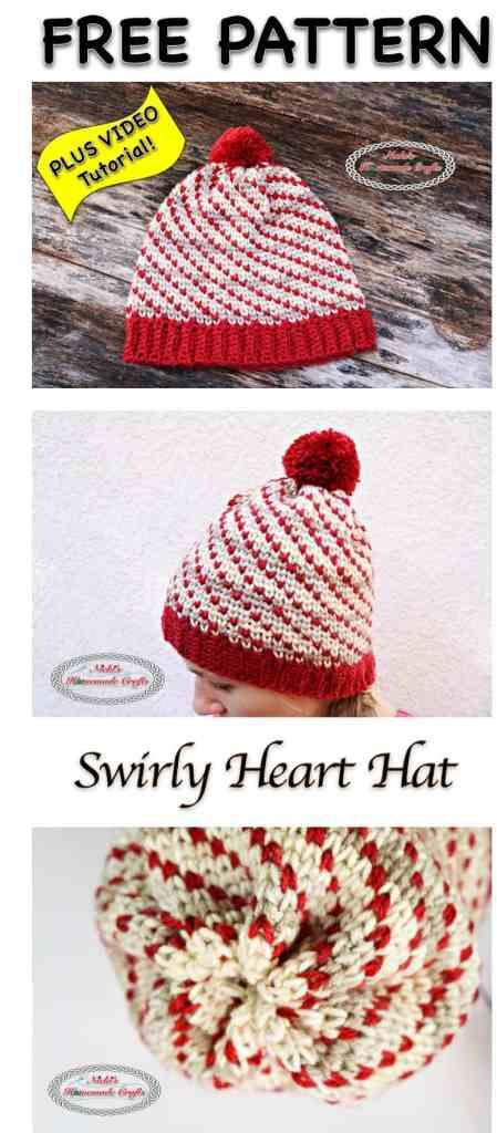 Swirly Heart Hat Free Crochet Pattern Nickis Homemade Crafts