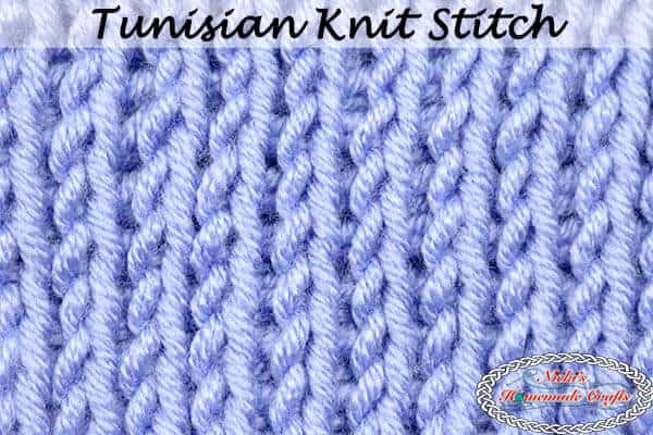 Tunisian Knit Stitch Tutorial crochet