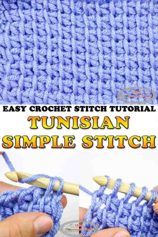 Tunisian Simple Crochet Stitch Tutorial