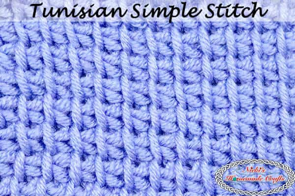 How To Crochet The Tunisian Simple Stitch Photo And Video Tutorial