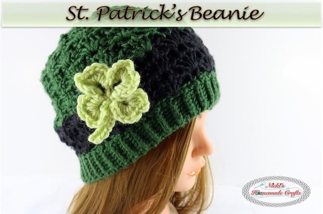St patricks beanie free crochet pattern nickis homemade crafts fandeluxe Image collections