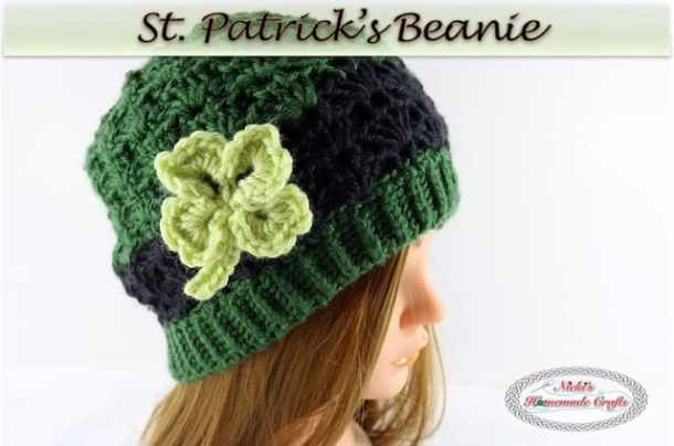 St. Patrick's Beanie - Free Crochet Pattern by Nicki's Homemade Crafts