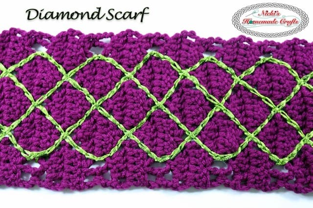 Diamond Scarf – Free Crochet Pattern