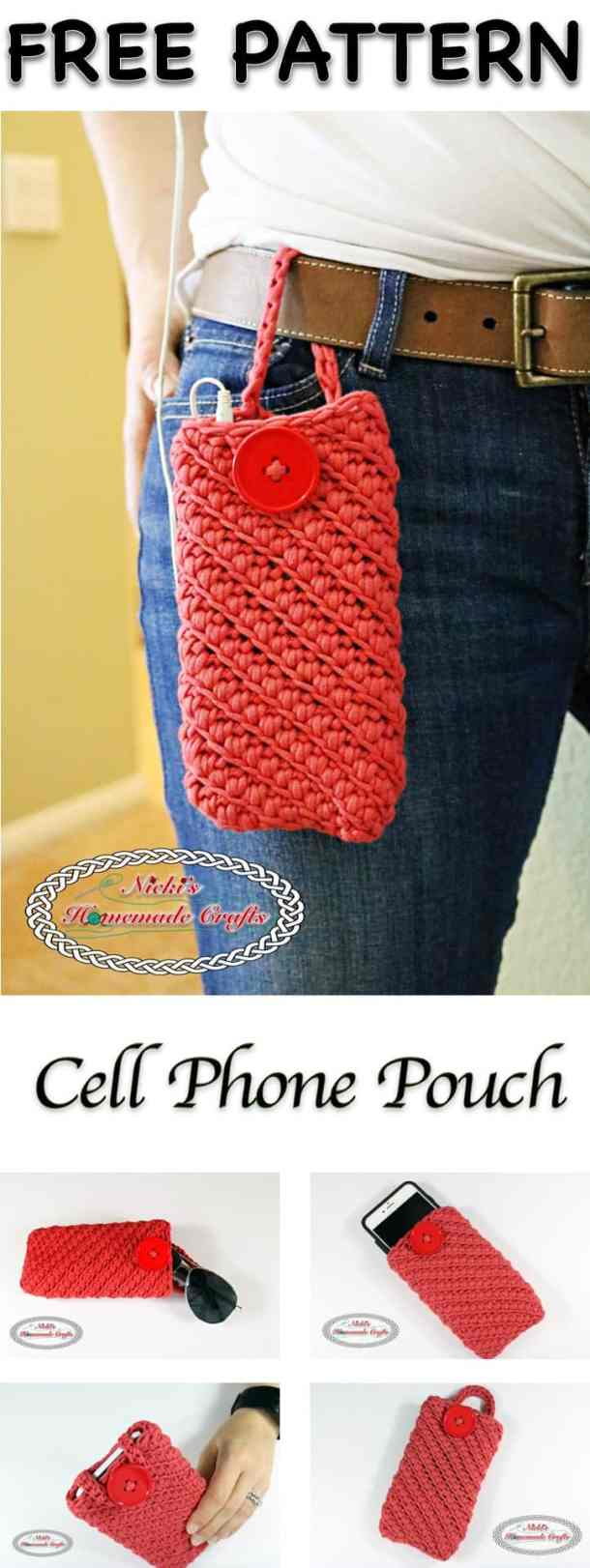 Cell Phone Pouch - Free Crochet Pattern by Nicki's Homemade Crafts