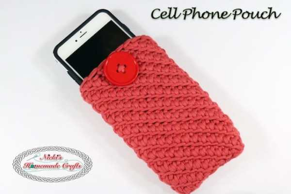 Cell Phone Pouch TITLE Free Crochet Pattern Nicki's Homemade Crafts