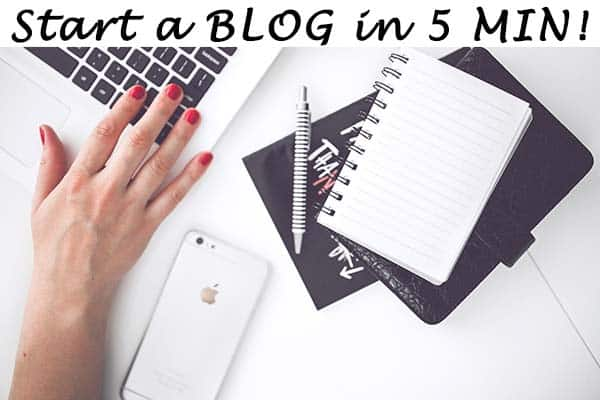 How to START your own BLOG in 5 MINUTES!