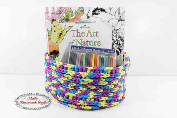 One Skein T-Shirt Yarn Basket used for Art Storage
