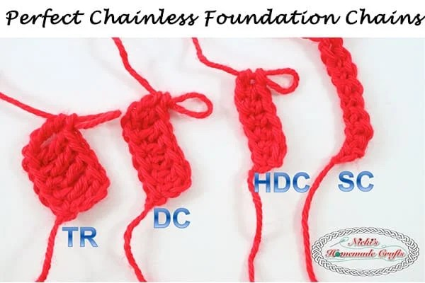 The Secret to the Perfect Chainless Foundation Chain for sc, hdc, dc and tr – Crochet Tutorial