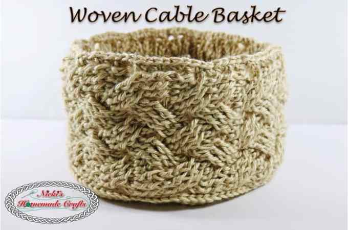 Woven Cable Basket – Free Crochet Pattern