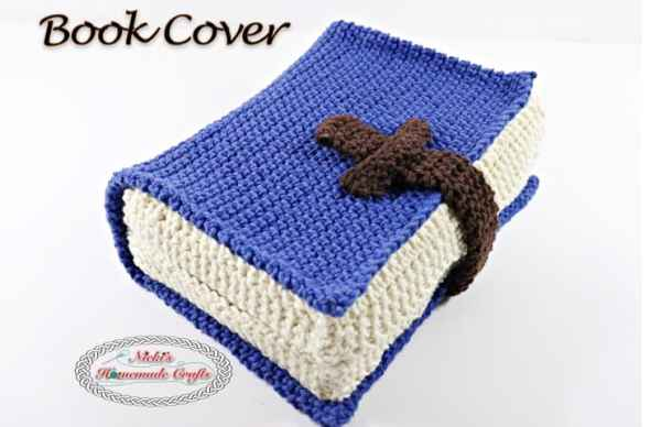Free Crochet Pattern using the thermal stitch for a Book Cover Pattern, bible, books, potholders, blankets, study bottoms, bags, by Nicki's Homemade Crafts