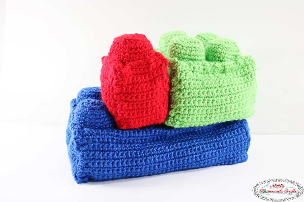 Soft And Stackable Bricks Free Crochet Pattern Nickis Homemade