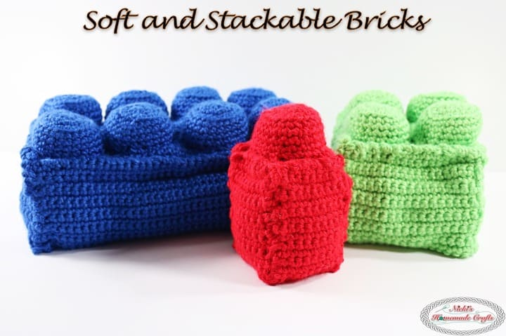 Soft And Stackable Bricks - Free Crochet Pattern - Nickis -5491