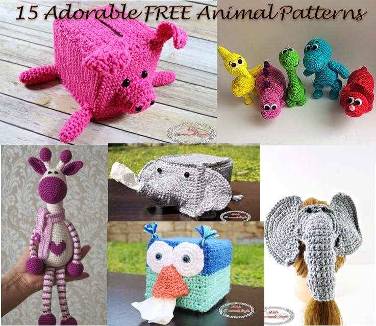 15 Most Popular and Adorable Free Animal Crochet Patterns - Nicki's