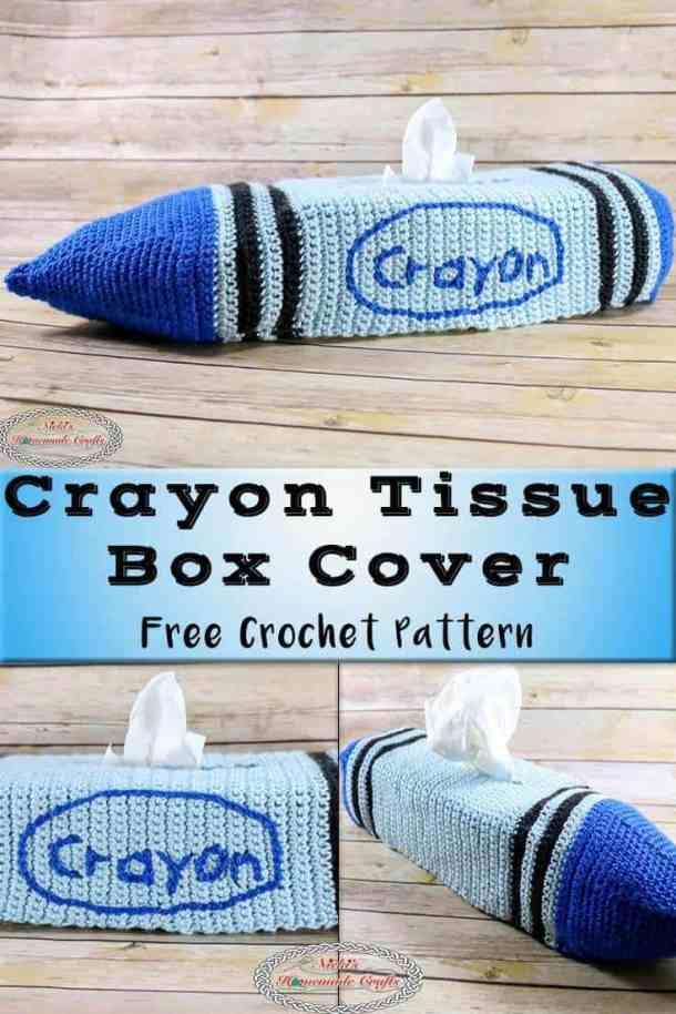 Crayon Tissue Box Cover - Free Crochet Pattern