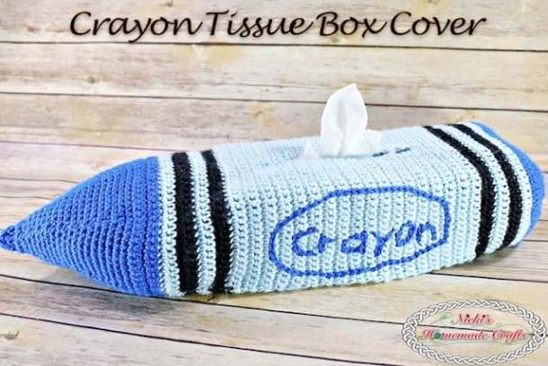 How To Crochet A Crayon Tissue Box Cover Free Crochet Pattern
