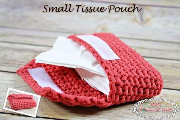 Easy Tunisian Smock Pouch - Free Crochet Pattern - Nicki's