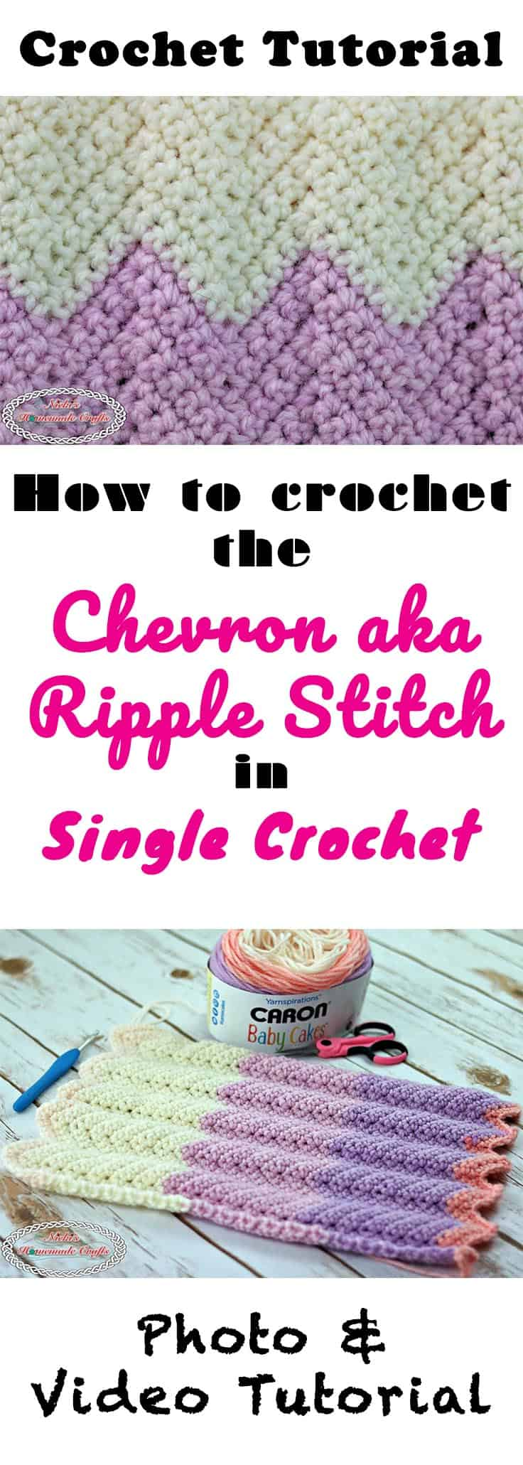 #crochet #chevron #crochetstitch #crochetutorial #ripplestitch #chevronstitch #videotutorial