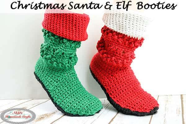 Crochet Santa & Elf Booties