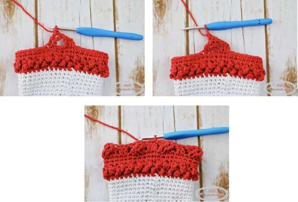 How to crochet the cables for the Adult Christmas Santa and Elf Booties - Free Crochet Pattern