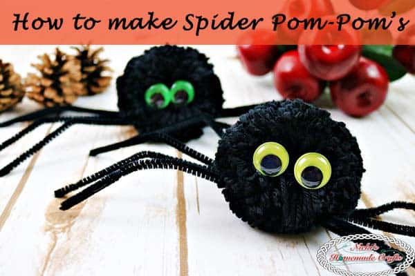 How to make a Spider Pom-Pom – Halloween DIY Tutorial
