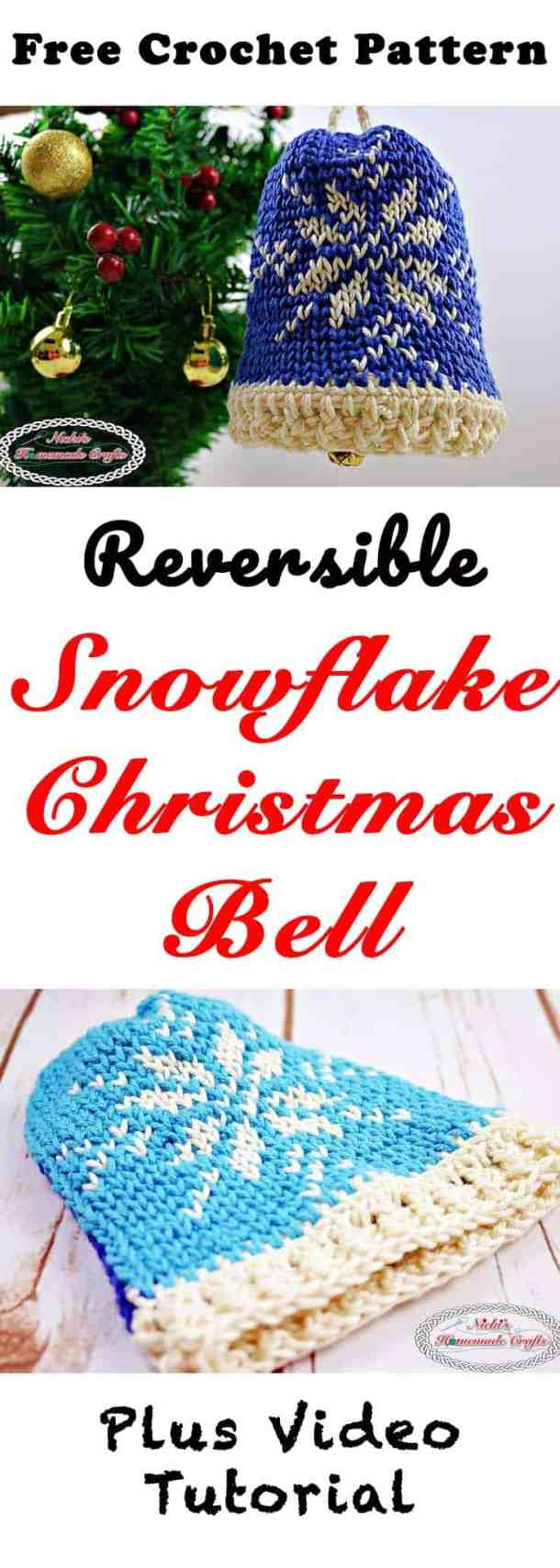Snowflake Christmas Bell Free Crochet Pattern Nickis Homemade