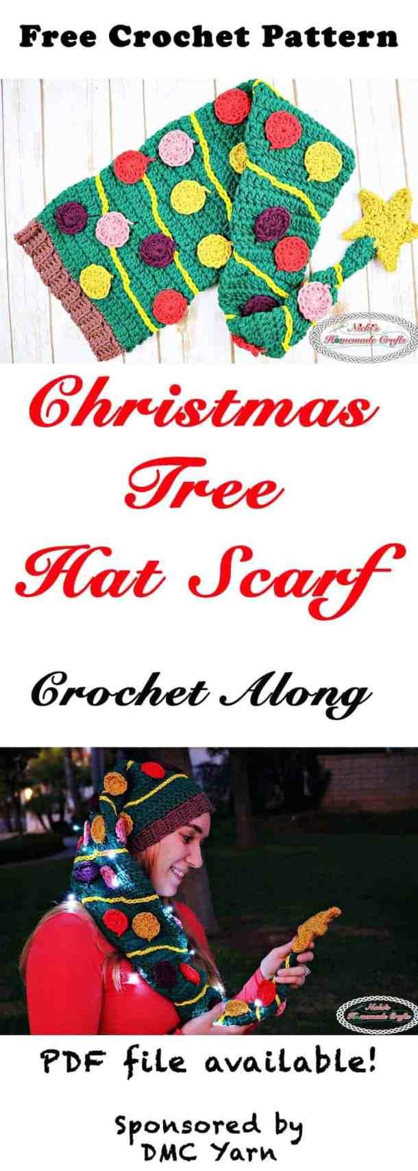 Christmas Tree Hat Scarf Crochet Along Free Crochet Pattern