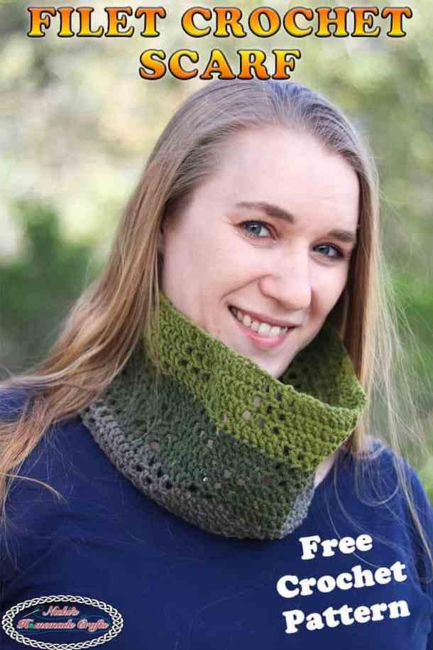 Filet Crochet Scarf - Free Pattern