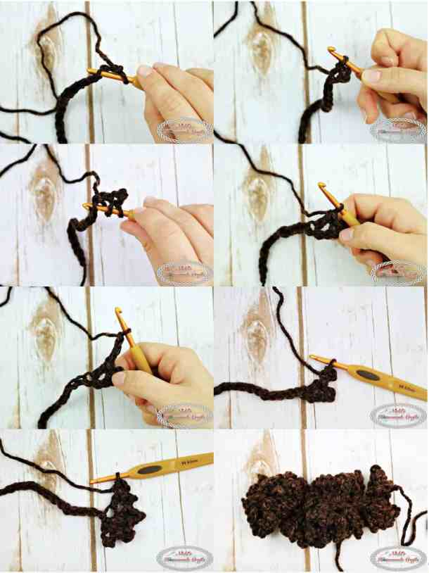 Step by Step Crochet a Pinecone - Free Pattern