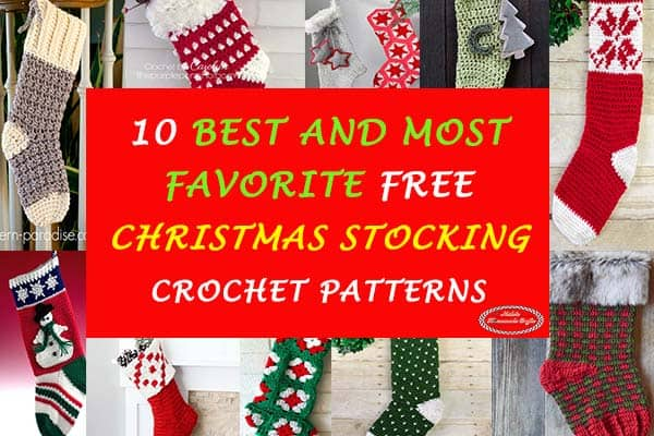 10 Best and Most favorite Christmas Stocking Free Corchet Patterns by Nicki's Homemade Crafts #crochet #pattern #christmas #stocking #pattern #collection #free #favorite #best