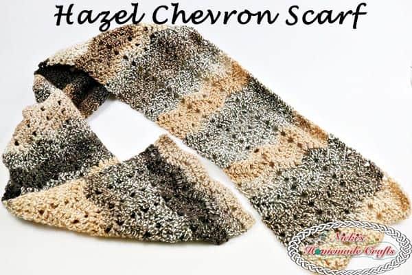 Hazel Chevron Scarf Free Crochet Pattern Nickis Homemade Crafts
